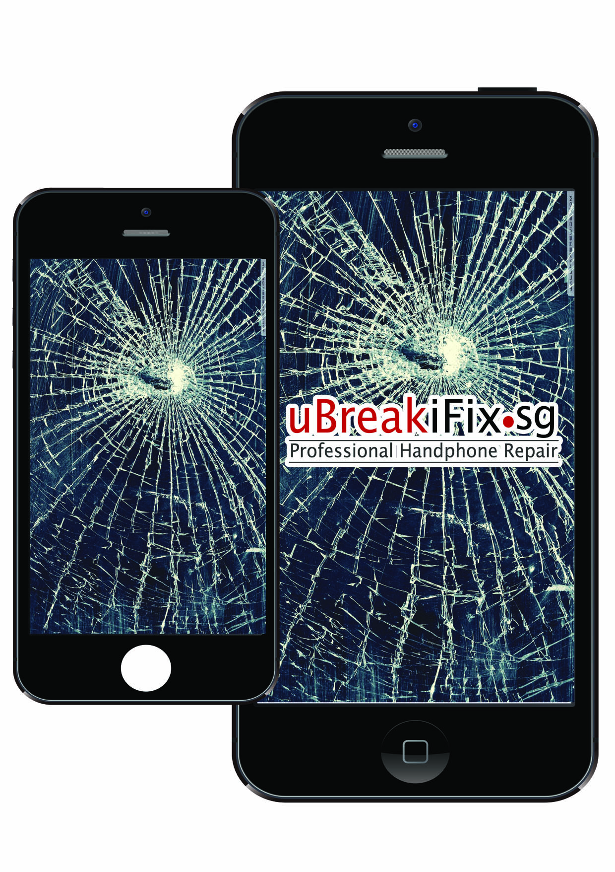 Mobile Cracked Touch Screen LCD